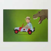 jurassic park Canvas Prints featuring Jurassic Park by DWatson