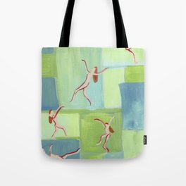 Abstract Goddess Dancing Tote Bag
