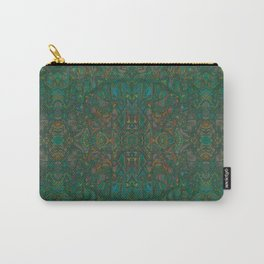 Copper Green Verdigris Abstract Watercolor Carry-All Pouch