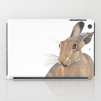 hare iPad Cases featuring Hare by ByKellyAttenborough