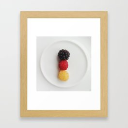 Germany in shape Framed Art Print
