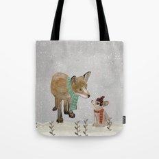 hello mr fox Tote Bag