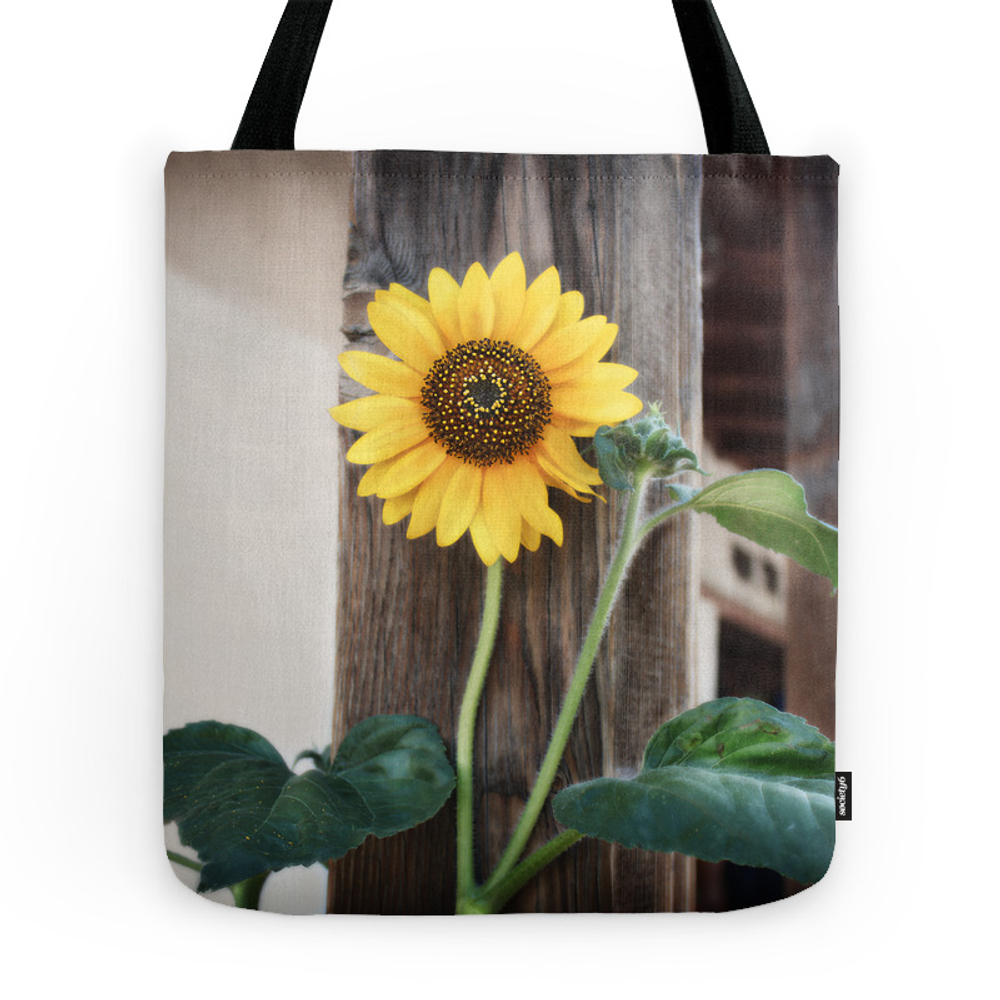 Sunflower Tote Bag by feathereddragonfly
