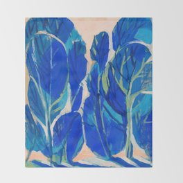 Poplars Throw Blanket