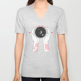 Space Coffee Unisex V-Neck