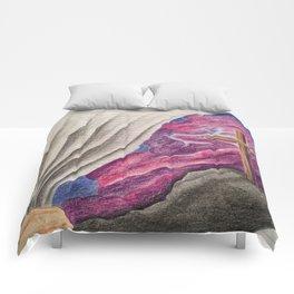3D Paper Torn Cross Comforters