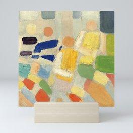 "Robert Delaunay ""Les coureurs (The runners)"" Mini Art Print"