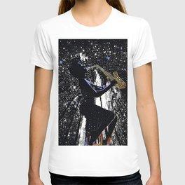 LADY JAZZ SAXOPHONE MUSIC AMONG THE STARS T-shirt
