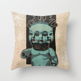 Triple face Throw Pillow