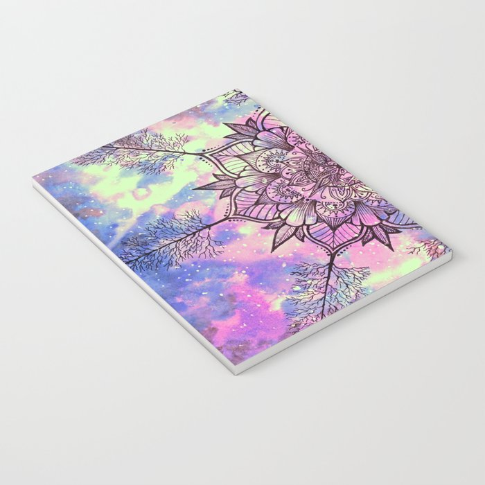 Galaxy Tree Mandala Notebook