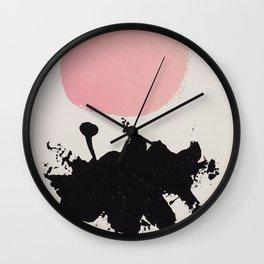 Adolph Gottlieb - Magenta Disk, 1966 Wall Clock