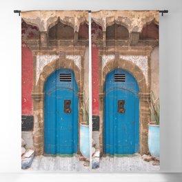 Cobalt Door, No. 73 - Essaouira, Morocco Blackout Curtain