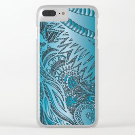 Blue Horse Clear iPhone Case