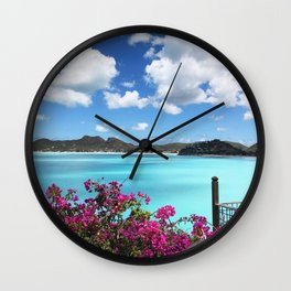 Caribbean Views Wall Clock