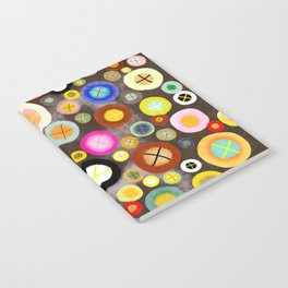 The incident - Circles pale vintage cross Notebook