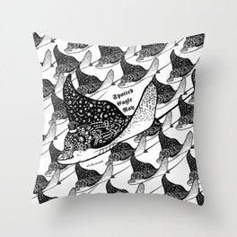Spotted Eagle Ray I Throw Pillow