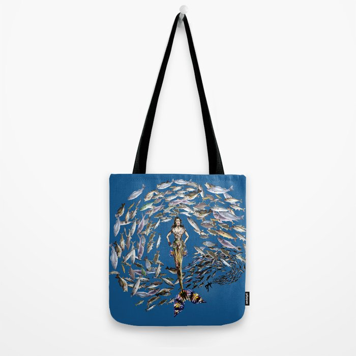 Mermaid in Monaco Tote Bag