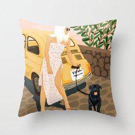 Tour #illustration Throw Pillow