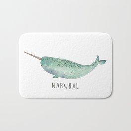 Cute Narwhal Bath Mat