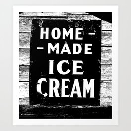 Home-made Ice Cream Vintage Sign Art Print