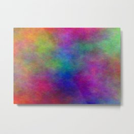 Beautiful Abstract Colorful Clouds Metal Print