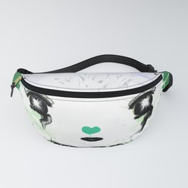 Punky Persian - Dark Green Fanny Pack