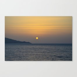 Sunset in Greece Canvas Print