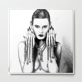 asc 801 - Les coeurs trophées (Doom is in the heart) Metal Print