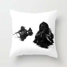Combat Diver Throw Pillow