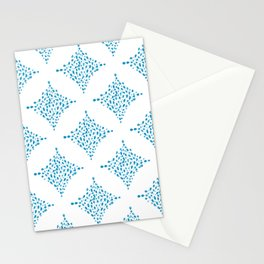 Dimond water color pattern - Blue Stationery Cards
