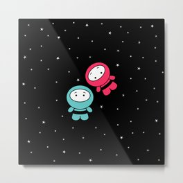 Spaceboy and Spacegirl Metal Print