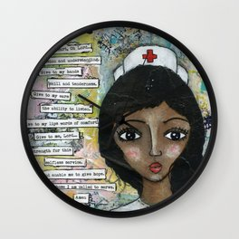 Nurse - African American  Wall Clock