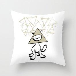 minima - pyramid cat Throw Pillow