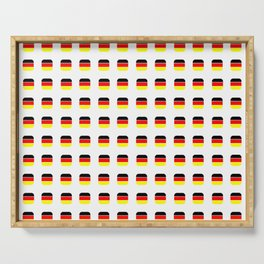 Flag of Germany -with soft square Serving Tray