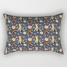 Fox and flowers Rectangular Pillow