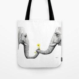 """Up Close You Are More Wrinkly Than I Remembered"" Tote Bag"