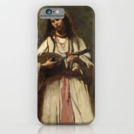 """Jean-Baptiste-Camille Corot """"Gypsy Girl with Mandolin"""" iPhone Case"""