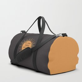 Do More Yoga, Give Less Fucks, Funny Quote Duffle Bag