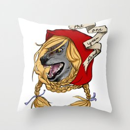 Which wolf survives Throw Pillow