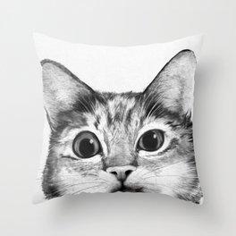 silly cat Throw Pillow