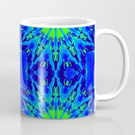 Green & Blue Starburst Series Coffee Mug