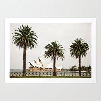 sydney Art Prints featuring Sydney by janisratnieks