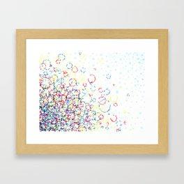 Abstract Hexies Framed Art Print