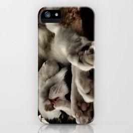 Cat get up right meow iPhone Case