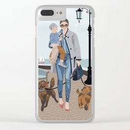 Seaside walk Clear iPhone Case