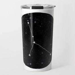 Cancer zodiac constellation star chart night sky star signs Travel Mug