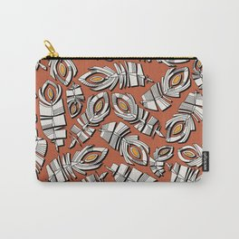 deco feathers sienna saffron Carry-All Pouch