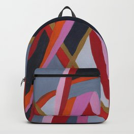 Motutara Harakeke    abstract painting of nature Backpack