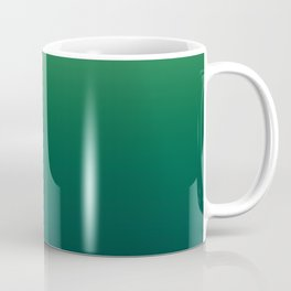 Mossy green, gradient, Ombre. Coffee Mug