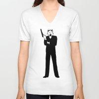 storm trooper V-neck T-shirts featuring Trooper... Storm Trooper 5 by Derek Donovan